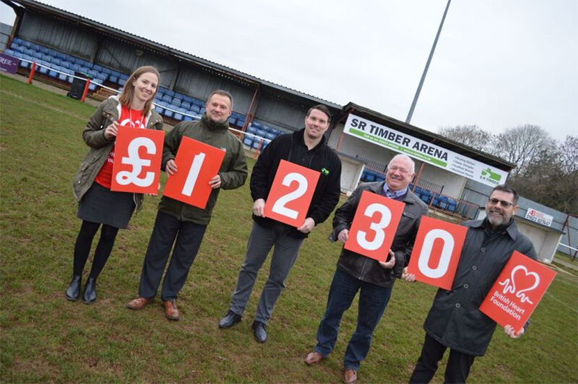 SR Timber's first community event raises £1,230 for the British Heart Foundation