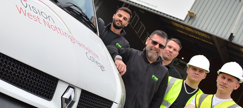 SR Timber supports skills with £6,000 materials donation to construction college